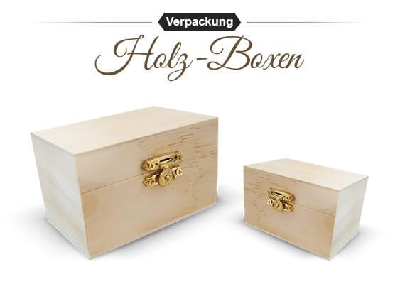 Geschenkboxen für Angler aus Holz